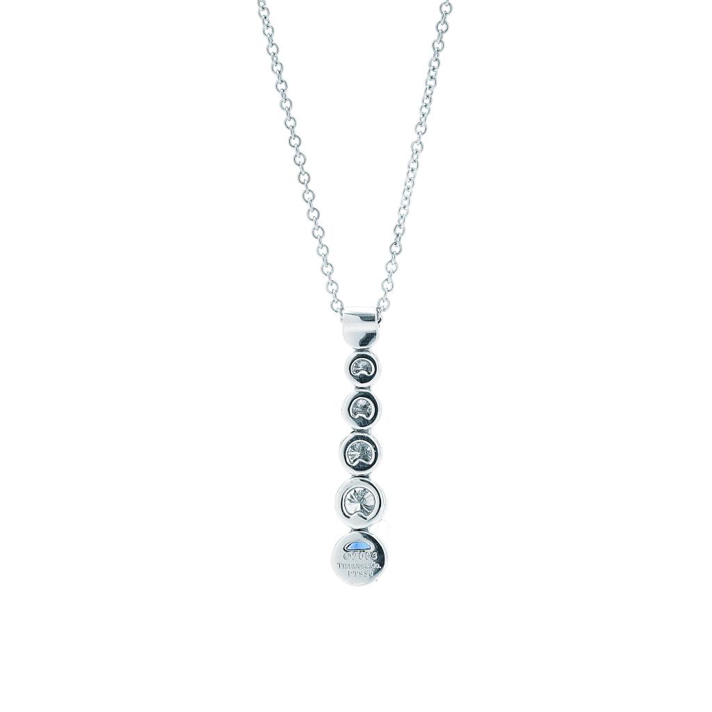 Tiffany Co Jazz Diamond And Sapphire Necklace N733200 Platinum New York Jewelers Jewelry